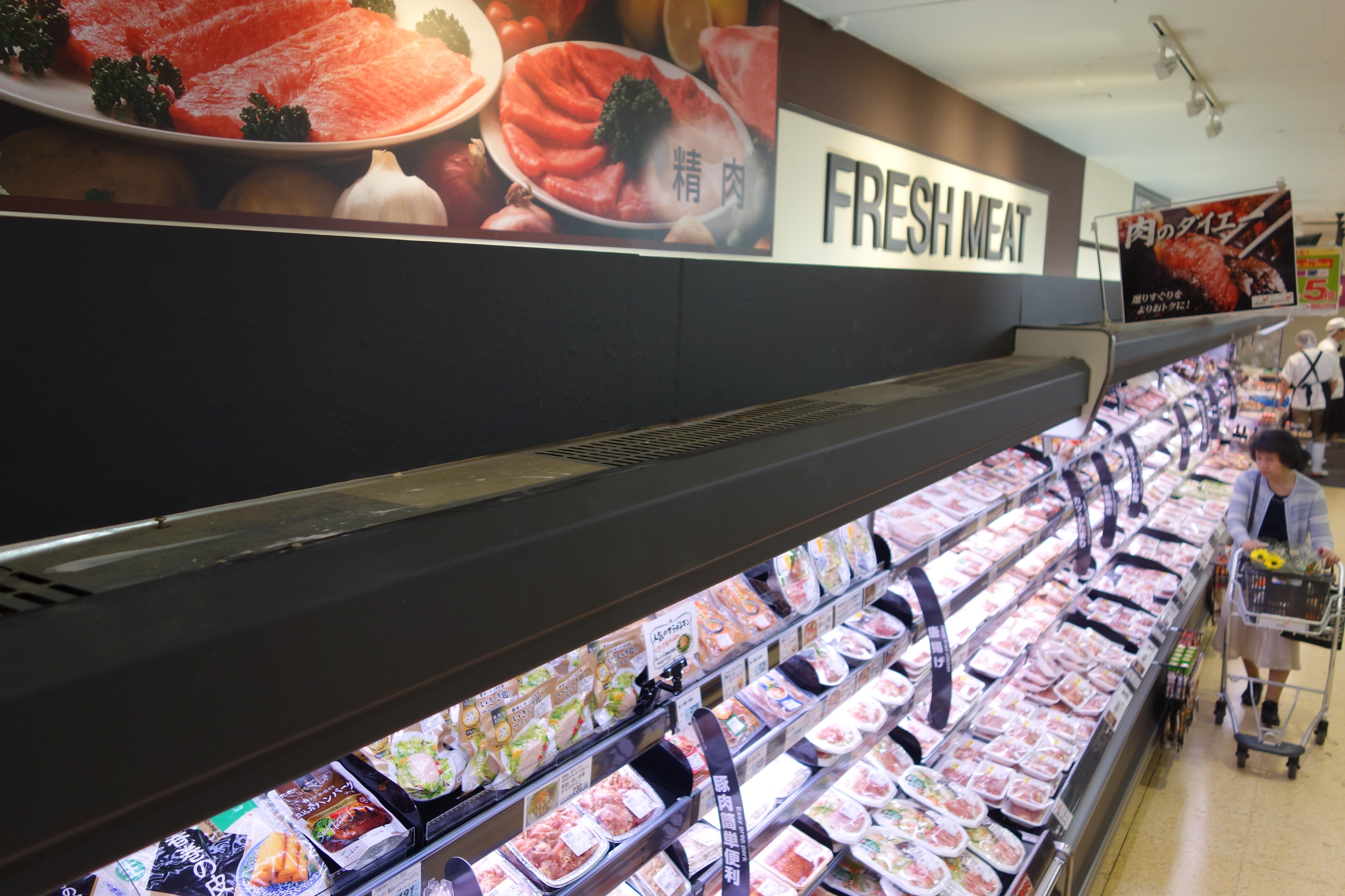 肉売り場は、かなり広がったように思います。
